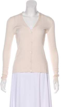 Prada V-Neck Long Sleeve Cardigan