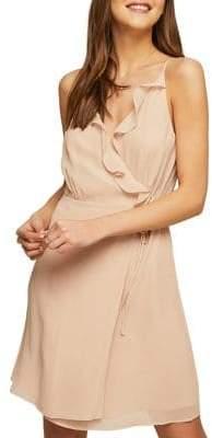 Miss Selfridge Frill Self-Tie Skater Dress