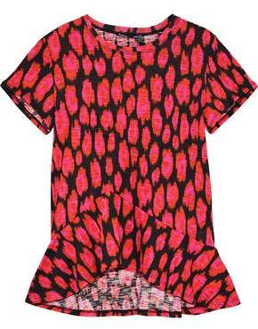 Proenza Schouler Fluted Printed Slub Jersey T-Shirt