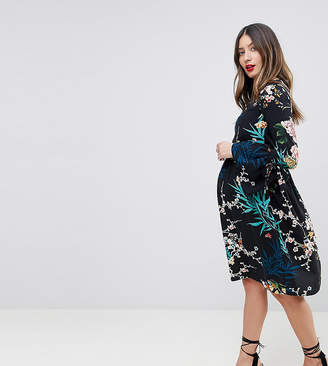 Queen Bee All Over Floral Printed Skater Dress