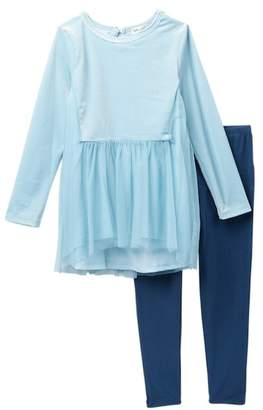 Splendid Velour Tulle Legging Set (Toddler Girls)