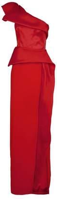 Marchesa Ruffle One-Shoulder Gown