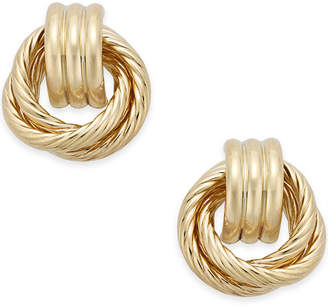 Macy's Textured Door Knocker Earrings in 14k Gold