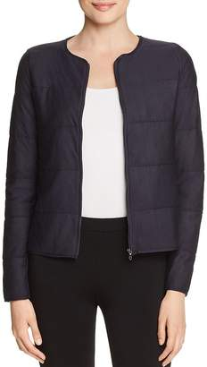 Majestic Filatures Quilted Knit Crop Jacket
