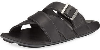 OluKai Kaupe'a Leather Slide Sandal