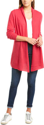 InCashmere Open Front Long Cashmere Cardigan