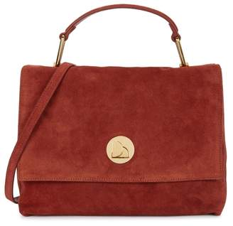 Coccinelle Liya Rust Suede Shoulder Bag