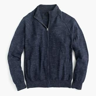 J.Crew Rugged cotton full-zip sweater