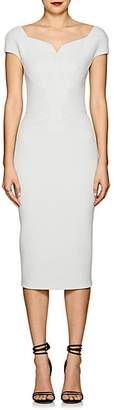Zac Posen Women's Bonded Crepe Fitted Sheath Dress - White