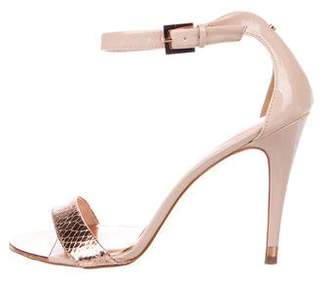 Ted Baker Metallic Patent Leather Sandals