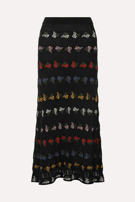 Sonia Rykiel Cotton-blend Jacquard Midi Skirt - Black