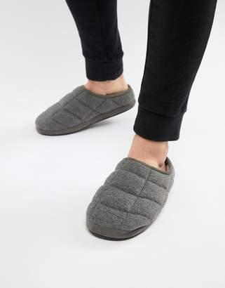 Dunlop Quilted Fleece Slip On Slipper
