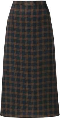 Rokh check pencil skirt