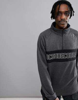 DC Snow Banner 1/4 Zip Sweatshirt In Bonded Fleece