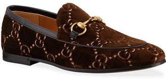 Gucci Men's Interlocking-GG Velvet Loafer