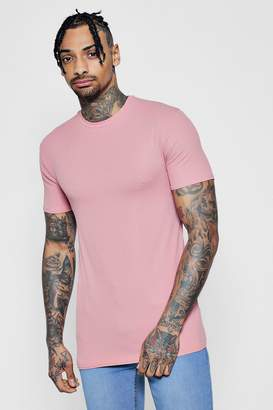 boohoo Muscle Fit Ribbed T-Shirt