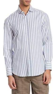 Brunello Cucinelli Striped Button-Front Shirt