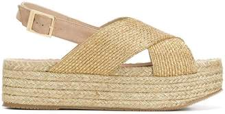 Paloma Barceló cross strap platform sandals