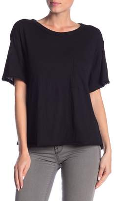 Lush Pocket Front Raw Hem Tee