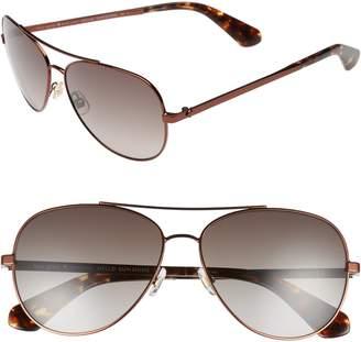 84cc4fc942333 Kate Spade Avaline 58mm Aviator Sunglasses
