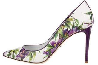 Dolce & Gabbana Leather Floral Pumps w/ Tags