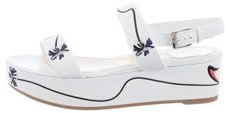 Christian Dior Printed Wedge Sandals w/ Tags