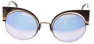 Fendi Metal Cat-Eye Sunglasses