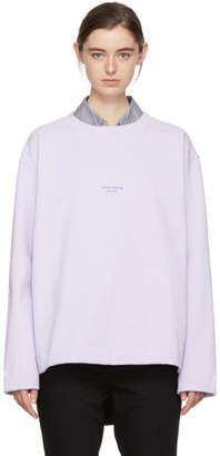 Acne Studios Purple Lynn Sweatshirt