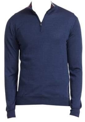 Saks Fifth Avenue COLLECTION Wool& Silk Zip Sweater