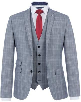Lambretta Men's Charlie Checked Three Piece Suit