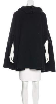Stella McCartney Wool Hooded Cape