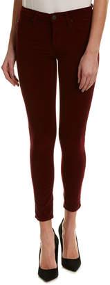 Hudson Jeans Jeans Nico Burgundy Velvet Ankle Super Skinny Leg