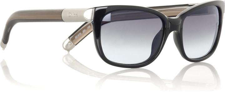 Chloé Saskia rounded oversized sunglasses
