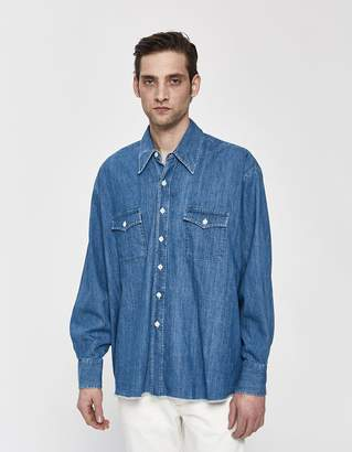 Our Legacy Denim Overshirt in Stone Wash