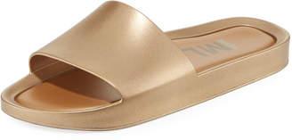 Pool' Melissa Shoes Beach Metallic Pool Slide Sandal