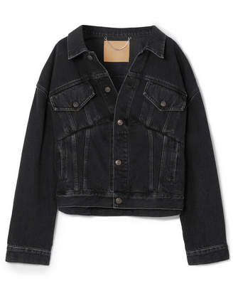 Balenciaga Oversized Denim Jacket - Black