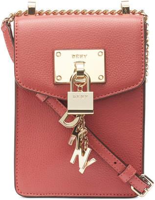 c017d67678 at Macy s · DKNY Elissa Pebble Leather Charm Chain Strap Crossbody