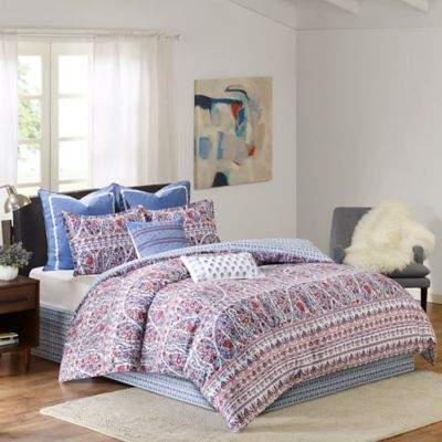 EchoTM Woodstock King Comforter Set in Blue/Red
