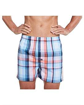 Mitch Dowd Todman Check Yarn Dyed Boxer Short