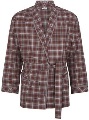 Zimmerli Cotton Check Robe