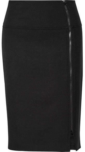 TOM FORD - Wool-blend Twill Pencil Skirt - Black