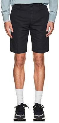 Pt01 Men's Linen-Cotton Bermuda Shorts - Navy