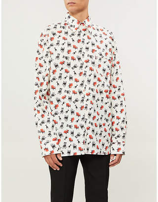 Marni Chair-print regular-fit cotton shirt