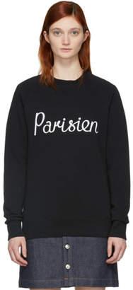 MAISON KITSUNÉ Black Parisien Sweatshirt