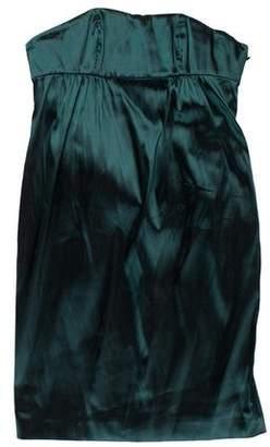 Nina Ricci Strapless Satin Dress w/ Tags