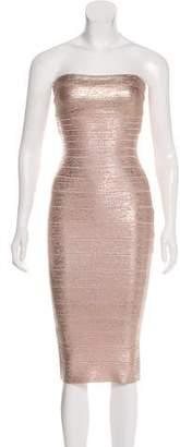 Herve Leger Strapless Bandage Mini Dress