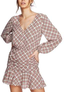 1 STATE 1.State 1.state Plaid Ruched Ruffle Dress