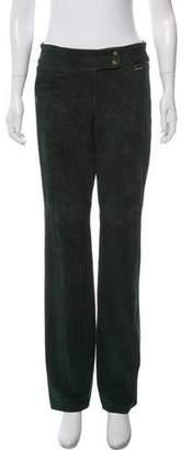 Ralph Lauren Black Label Suede Mid-Rise Pants