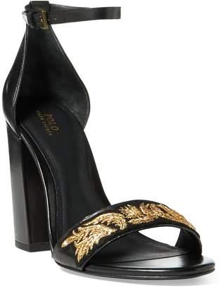 Ralph Lauren Kierra Bullion Calfskin Sandal