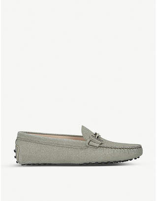 Tod's Tods Gommini Maxi Doppia glitter leather loafers